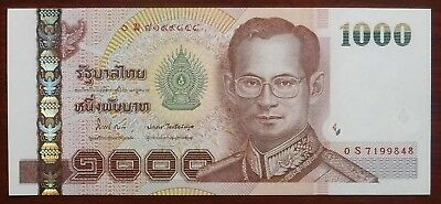 1000 Baht Serie 15 Sign. 84 Thailand Ersatzbanknote Replacement 0S UNC