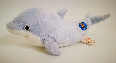 Retired 2008 TY Beanie Babies 2.0 CLIPPER Dolphin Bean Bag Soft Toy #42027