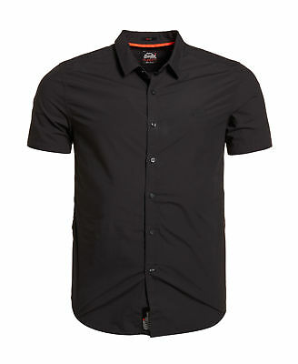 New Mens Superdry Premium Button Down Washed Black