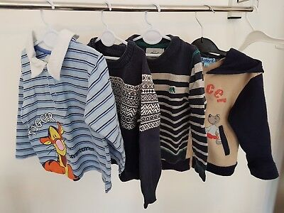Boys long sleeve Jumpers and hoodie 12-18 Months
