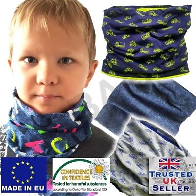 Boy baby toddler autumn spring Scarf Snood Warm Cotton colour UK
