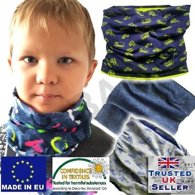 Boy girl baby toddler autumn spring Scarf Snood Warm Cotton colour UK