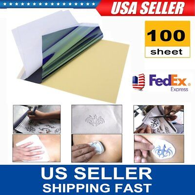 100 Sheets A4 Dye Sublimation Heat Transfer Paper Polyester Cotton T- Shirt VQ