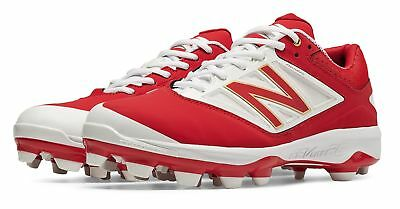 New Balance Men's Low Cut 4040v3 TPU Molded Cleat Shoes Red with White
