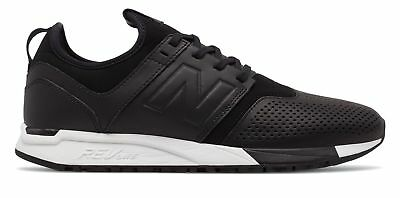 NEW BALANCE MEN S 247 Leather Shoes Black with White -  39.99  64fd455164