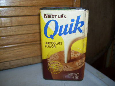 Old Quik Nestle's Chocolate Flavor Tin Can-Old Price Was 31 Cent