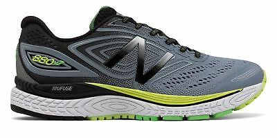 NEW BALANCE MEN'S 880V7 Comfortable Running Shoes Grey With Black & Yellow