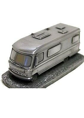 Hymer A class motor home Pewter effect 1:92 Scale model ref100