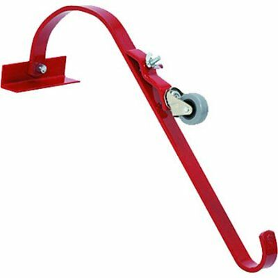 QualCraft 2481 Weather Resistant Ladder Hook With Wheel, Steel, Powder Coated