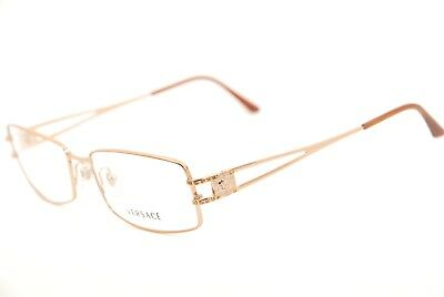 0263f39412a91 New Authentic Versace 1092-B 1052 Copper Brown 53mm Eyeglasses RX Italy    Case