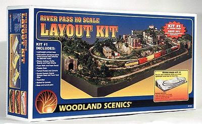Woodland Scenics Ho Scale River Pass Subterrain Kit | Bn | 1484