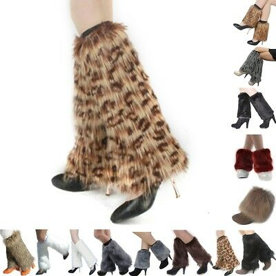Ready Made Fluffies Fluffy Furry Leg Warmers Boots Cover 15Cm/20Cm/30Cm/40Cm Uk