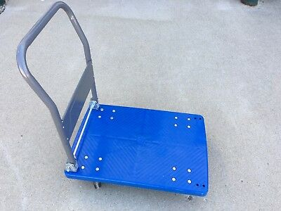 440lb Foldable Platform Hand Truck Industrial Flat Trolley Dolly Moving Cart