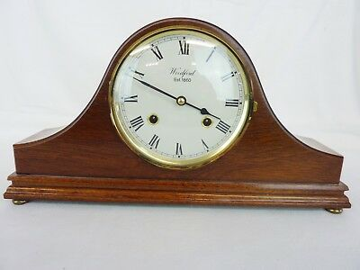 Superb Woodford Wooden Cased Chiming Mantel Clock, Franz Hermle Movement    #cr#