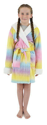 i-Smalls Girls Hooded Rainbow Unicorn Dressing Gown Robe