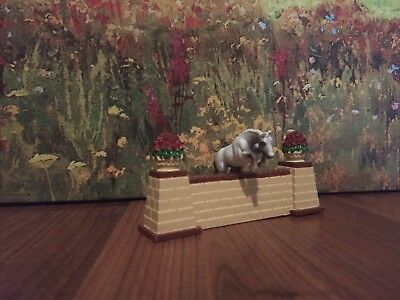 Breyer Mini Whinnie Gray Jumping Horse with Stand and Jump