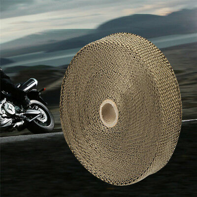 """Titanium Exhaust/Header Heat Wrap, 1"""" x 50' Roll With Stainless Ties Kit  Best"""