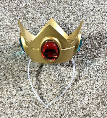 Licensed Princess Peach Costume Crown Headband Nintendo Super Mario For Ages 4+