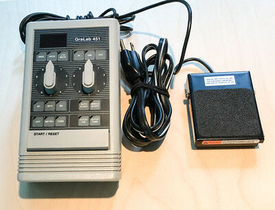 GraLab Model 451 Digital Electronic Darkroom Timer  with foot pedal switch