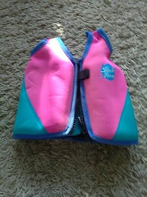 """Girls Pink Splash About Swimming Aid """"Water Buddy"""" float vest size 1 - 2 years."""