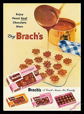 Print Ad~1955~Brach's Chocolate~Cooking~Stars~Color~I300