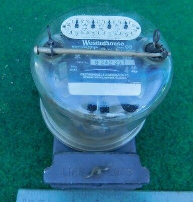 Westinghouse Type OB 5 Amp Watthour Meter  Vintage Electric w/  LS / NR