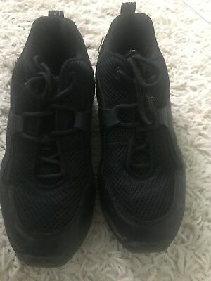 Capezio Black Dance, Hip Hop, Jazz or Irish Dance Sneakers, Girls, Size 6.5
