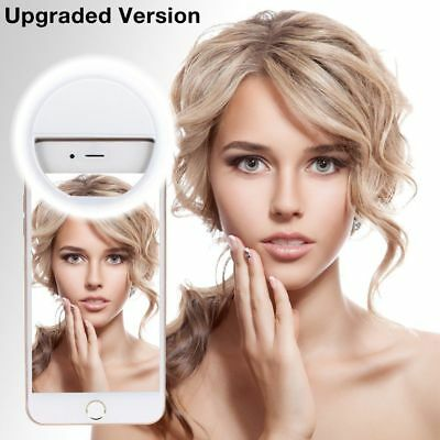 Portable Selfie LED Light Ring Fill Camera Flash For Android Mobile Phone iPhone