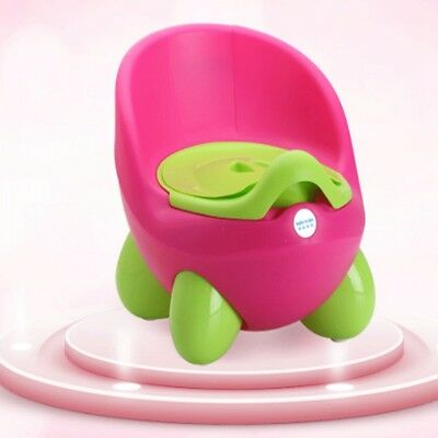 NEW BABY TOILET EASY CLEAN KIDS TODDLER POTTY TRAINING CHAIR SEAT Pink/Green