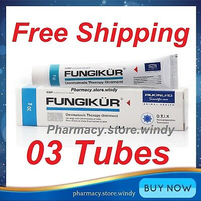 3 FUNGIKUR 20g Topical Treatment Of Scabies For Dog And Cat, Effective Skin Care