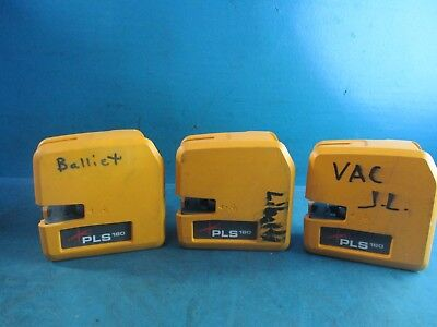 Lot of 3 -  Pacific laser level Systems PLS180 Laser Line - UNTESTED