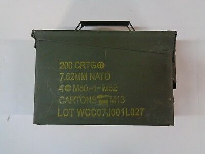 Army Military 30 Cal Ammo Can Metal Storage Box M19A1
