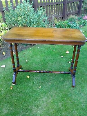 Antique Edwardian Mahogany Side/End/Sofa/Occasional/Coffee Table on Castors