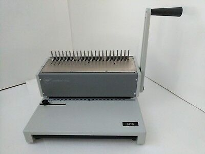 GBC C150 CombBind Heavy Duty Manual Binding Machine + 2 Partial Boxes of Combs