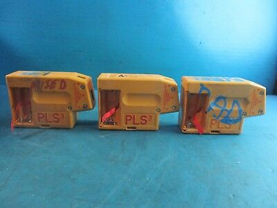 Lot of 3   Pacific Laser Systems PLS 3 Three Point Self Leveling Tool - UNTESTED