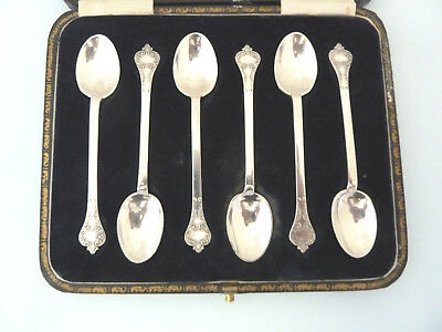 BOXED Set 6 Solid Silver Queen ANNE Style TREFID Spoons, GOLDSMITHS Sheff 1922