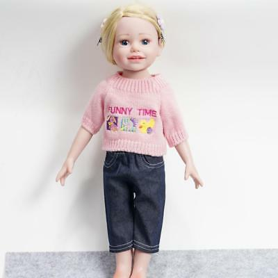 PRO Fashion Handmade Clothes Dress for 18 inch Girl Dolls Sweater+ Pants  lilk