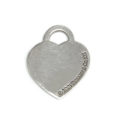 TIFFANY & CO. 925 STERLING SILVER 2001 HEART CHARM PENDANT 5.6 Grams