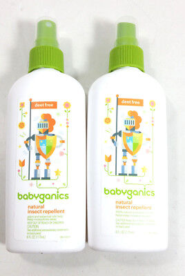 Babyganics Natural DEET-Free Insect Repellent 6oz Spray Bottle (2 Pack) [MR36-Y2