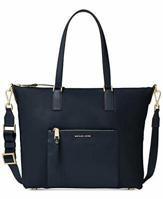 ca5f80889db4 NWT MICHAEL KORS Ariana Large Nylon Tote Shoulder Bag Black ...