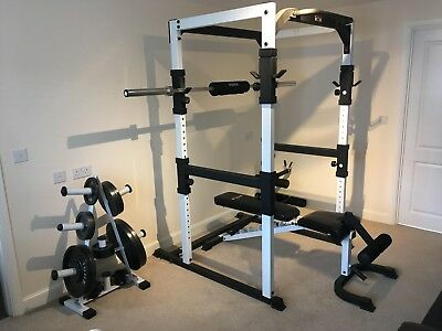 Olympic Home Gym Package (York FTS Light Commercial) Power Cage, Bench,Weights