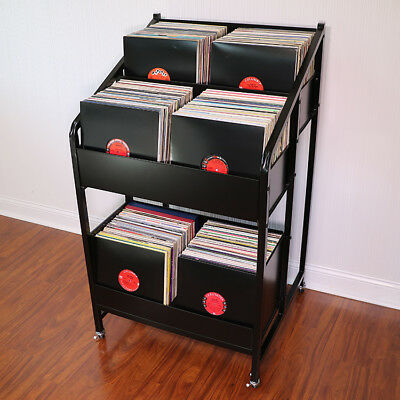 Lpbin3 Lp Storage Cabinet With Casters Bin Style Vinyl Record