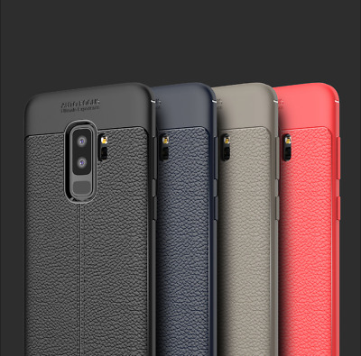 Leather Slim Silicone Case For Samsung Galaxy S8 S9 S10 Plus Note 9 8 Thin Cover
