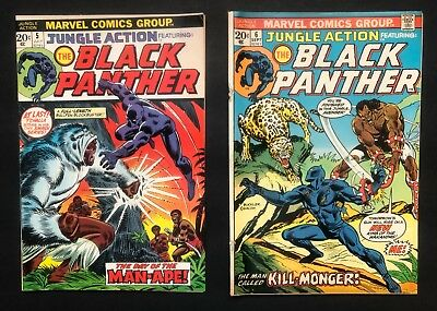 Jungle Action #5 & 6 (Marvel - 7-8/1973) 1st BLACK PANTHER SOLO STORY