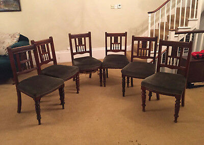 Six Late Victorian Mahogany Dining Chairs