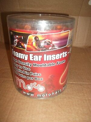 Motorcycle moto foamy  mouldable Ear Inserts  200 pieces (100 Pairs) Ear plugs