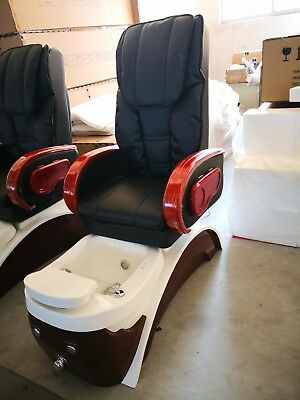 Spa Pedicure Chairs Massage for salon Model ANKHANG TOP BLACK BASIN BROWN