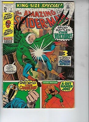 Amazing Spider-Man King-Size Special 7, VG, The Vulture, Silver Age