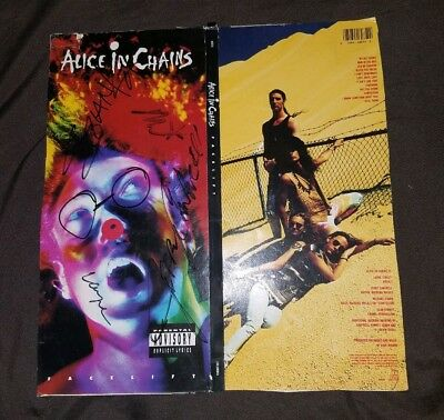 Alice In Chains Signed Facelift CD Longbox Layne Staley Jerry Cantrell Autograph