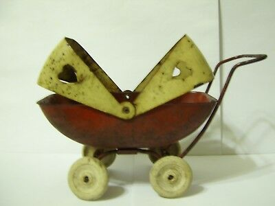 VINTAGE, Metal Toy STROLLER / BABY BUGGY / CARRIAGE